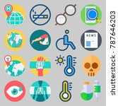 icon set about medical. with... | Shutterstock .eps vector #787646203