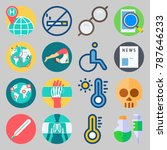 icon set about medical. with... | Shutterstock .eps vector #787646233