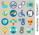icon set about medical. with... | Shutterstock .eps vector #787646377