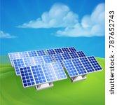 illustration of solar power...   Shutterstock .eps vector #787652743