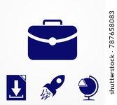 briefcase blue icon. vector... | Shutterstock .eps vector #787658083