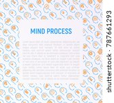 mind process concept with thin...   Shutterstock .eps vector #787661293