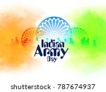 indian army day with tricolour...   Shutterstock .eps vector #787674937