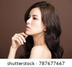 closeup young beauty on brown... | Shutterstock . vector #787677667