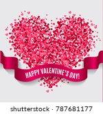 valentines heart. happy...   Shutterstock .eps vector #787681177