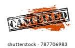 cancelled vintage vector stamp | Shutterstock .eps vector #787706983