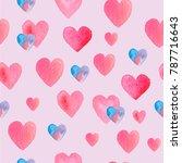 seamless hand drawn pattern... | Shutterstock . vector #787716643
