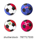 soccer balls with flags france  ... | Shutterstock .eps vector #787717333