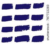 set of hand painted dark brush... | Shutterstock .eps vector #787722283