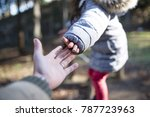 father and daughter's hand... | Shutterstock . vector #787723963