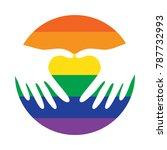 lgbt gay pride logo icon vector.... | Shutterstock .eps vector #787732993