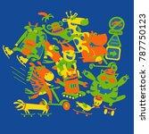 dance zone illustration | Shutterstock .eps vector #787750123