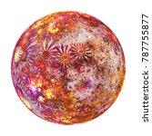 fantastic world. abstract glass ... | Shutterstock . vector #787755877