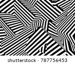 abstract black and white... | Shutterstock .eps vector #787756453