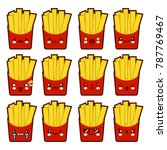 emoji emoticon french fries... | Shutterstock . vector #787769467