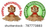 hapy groundhog day. funny...   Shutterstock .eps vector #787773883