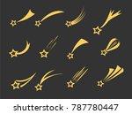 shooting stars icons. vector... | Shutterstock .eps vector #787780447