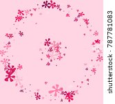 pink blots on a pink background.... | Shutterstock .eps vector #787781083
