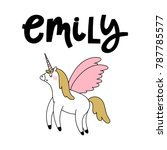 emily female name with cute... | Shutterstock .eps vector #787785577