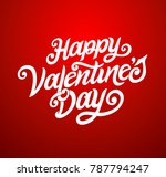 happy valentines day typography ... | Shutterstock .eps vector #787794247