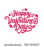 happy valentines day typography ... | Shutterstock .eps vector #787795927