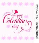 valentine's day card vector... | Shutterstock .eps vector #787798063