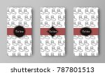 design of vector leaflet with... | Shutterstock .eps vector #787801513