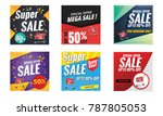 sale banner collection | Shutterstock .eps vector #787805053