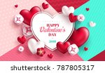 valentine's day concept... | Shutterstock .eps vector #787805317