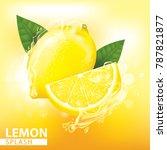 lemon splash vector illustration | Shutterstock .eps vector #787821877