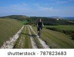 mountain biking on isle of wight | Shutterstock . vector #787823683