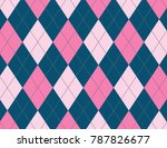 pink and ink blue argyle... | Shutterstock .eps vector #787826677