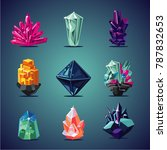crystal isolated icons set....