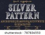 vintage font alphabet... | Shutterstock .eps vector #787836553