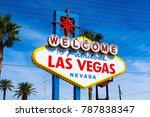 the welcome to fabulous las... | Shutterstock . vector #787838347