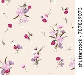 trendy  floral pattern in the... | Shutterstock .eps vector #787839073