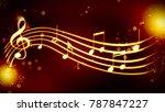 a beautiful musical score | Shutterstock . vector #787847227