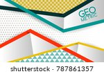 geometric line abstraction... | Shutterstock .eps vector #787861357