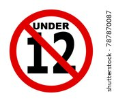 no 12 years icon illustration ... | Shutterstock .eps vector #787870087
