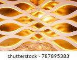 background golden abstract | Shutterstock . vector #787895383