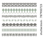 set of seamless decorative... | Shutterstock .eps vector #787900723