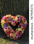 heartshaped pastel sympathy... | Shutterstock . vector #787909273
