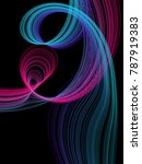 vector abstract flowing curves... | Shutterstock .eps vector #787919383
