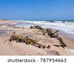 the rusting remains of an old... | Shutterstock . vector #787954663