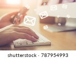 email marketing and newsletter... | Shutterstock . vector #787954993