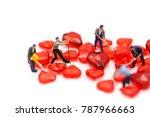 miniature people   working on... | Shutterstock . vector #787966663