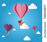 valentine's day is a balloon... | Shutterstock .eps vector #788008897