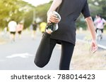woman doing exercises and warm... | Shutterstock . vector #788014423