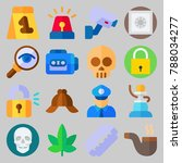 icon set about crime... | Shutterstock .eps vector #788034277