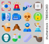 icon set about crime... | Shutterstock .eps vector #788034283